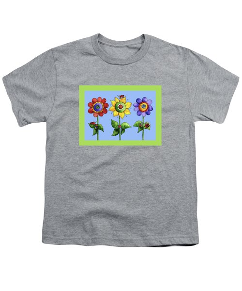 Ladybugs In The Garden Youth T-Shirt by Shelley Wallace Ylst