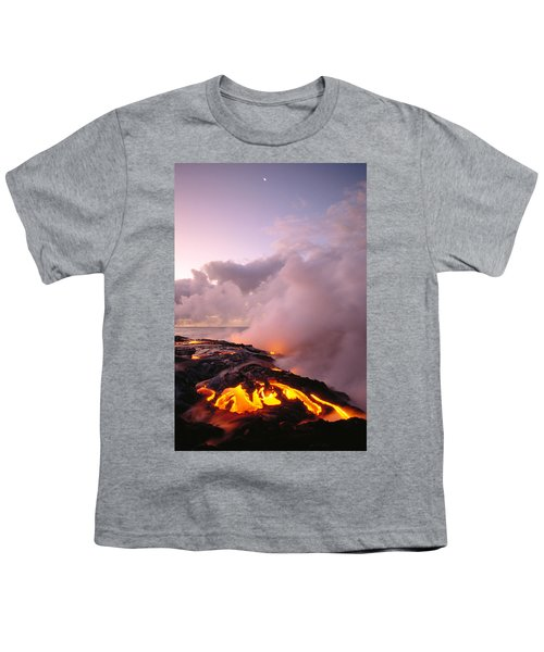 Lava Flows At Sunrise Youth T-Shirt by Peter French - Printscapes