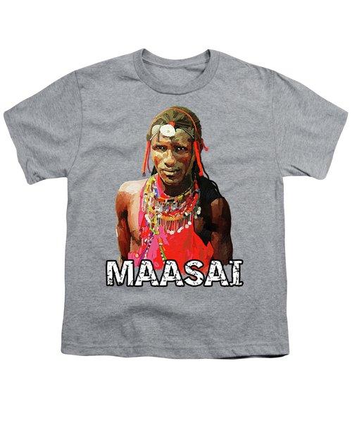 Maasai Moran Youth T-Shirt by Anthony Mwangi