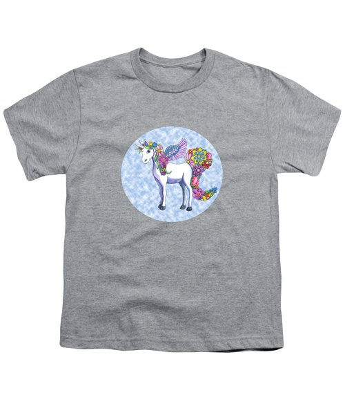Madeline The Magic Unicorn 2 Youth T-Shirt by Shelley Wallace Ylst