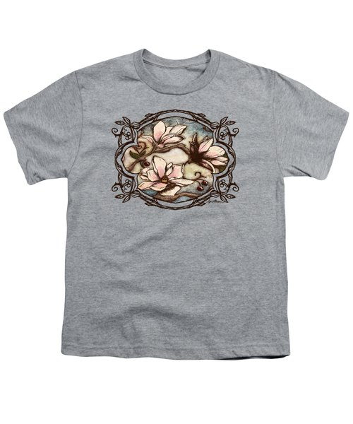 Magnolia Branch II Youth T-Shirt by April Moen