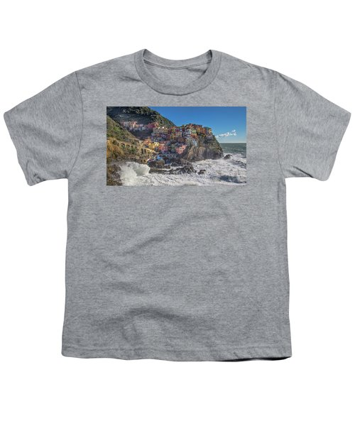 Manarola In Cinque Terre  Youth T-Shirt