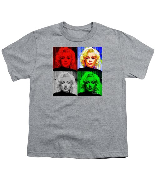 Marilyn Monroe - Quad. Pop Art Youth T-Shirt