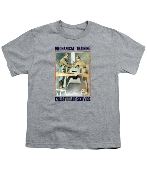 Mechanical Training - Enlist In The Air Service Youth T-Shirt