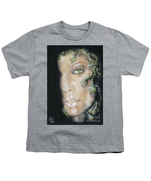Medusa Youth T-Shirt by John Sodja