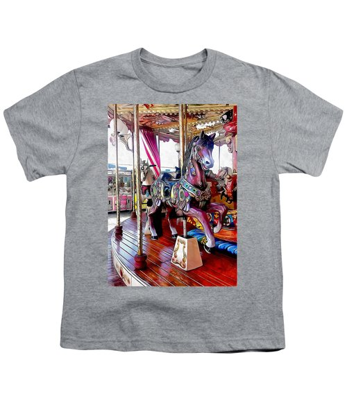 Merry Go Round Horses Youth T-Shirt