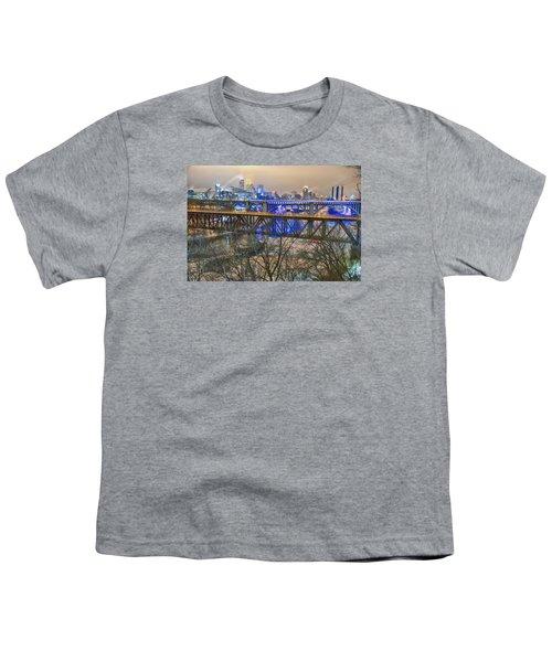 Minneapolis Bridges Youth T-Shirt by Craig Voth