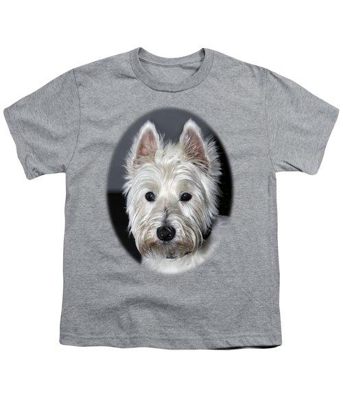 Mischievous Westie Dog Youth T-Shirt