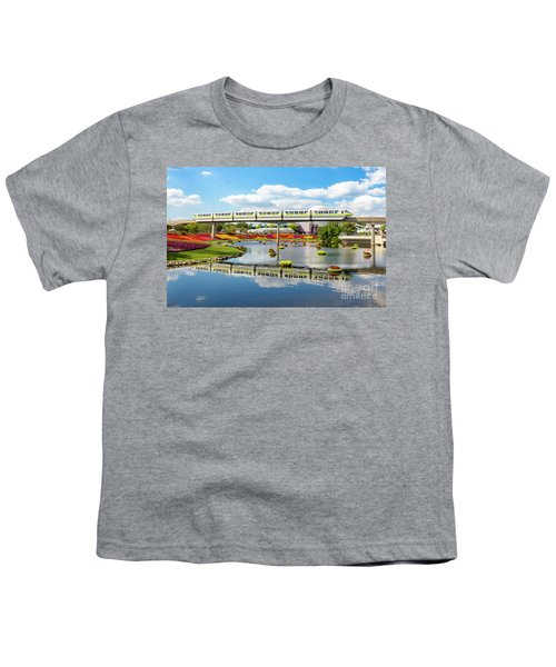 Monorail Cruise Over The Flower Garden. Youth T-Shirt