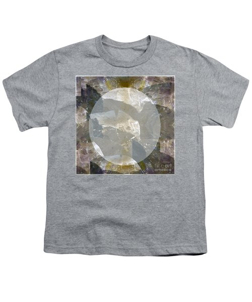Moon Art On Stone Digital Graphics By Navin Joshi By Print Posters Greeting Cards Pillows Duvet Cove Youth T-Shirt by Navin Joshi