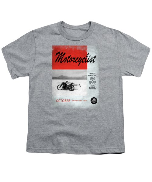 Motorcyclist Magazine - Rollie Free Youth T-Shirt by Mark Rogan
