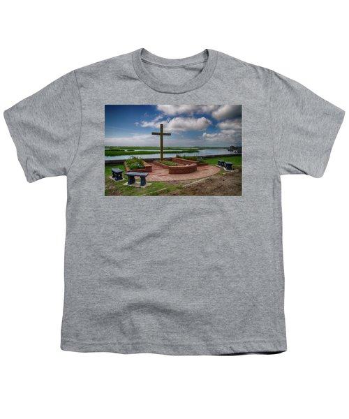 New Garden Cross At Belin Umc Youth T-Shirt