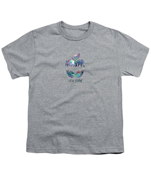 new York apple  Youth T-Shirt by Mark Ashkenazi