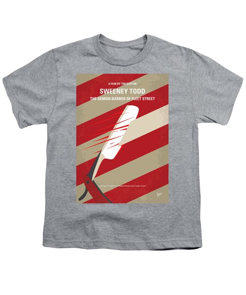 No849 My Sweeney Todd Minimal Movie Poster Youth T-Shirt