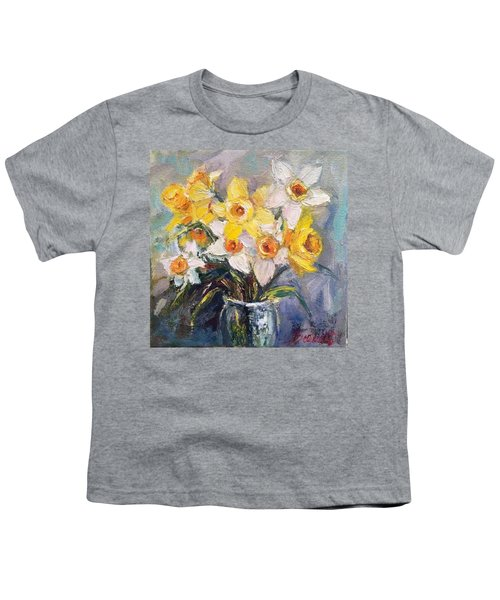 Ok Finished! #springflowers #daffodils Youth T-Shirt