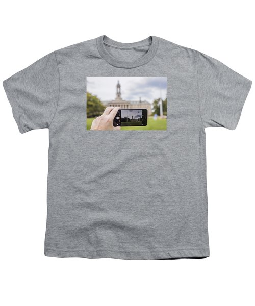 Old Main Through Iphone  Youth T-Shirt by John McGraw