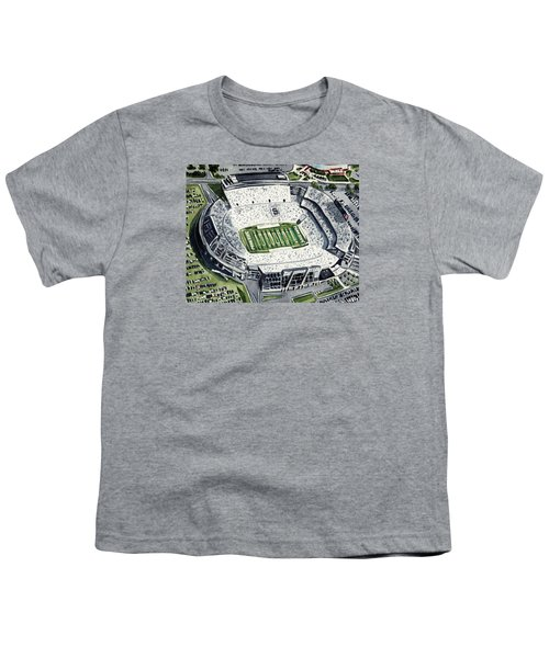 Penn State Beaver Stadium Whiteout Game University Psu Nittany Lions Joe Paterno Youth T-Shirt by Laura Row