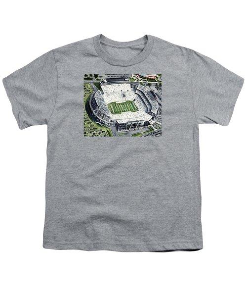 Penn State Beaver Stadium Whiteout Game University Psu Nittany Lions Joe Paterno Youth T-Shirt by Laura Row