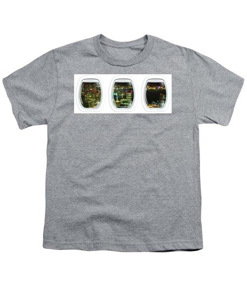 Porthole Frame On Tokyo Bay Area Youth T-Shirt