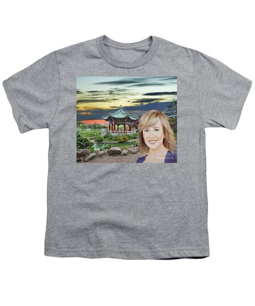 Portrait Of Jamie Colby By The Pagoda In Golden Gate Park Youth T-Shirt by Jim Fitzpatrick