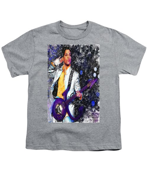 Prince - Tribute With Guitar Youth T-Shirt