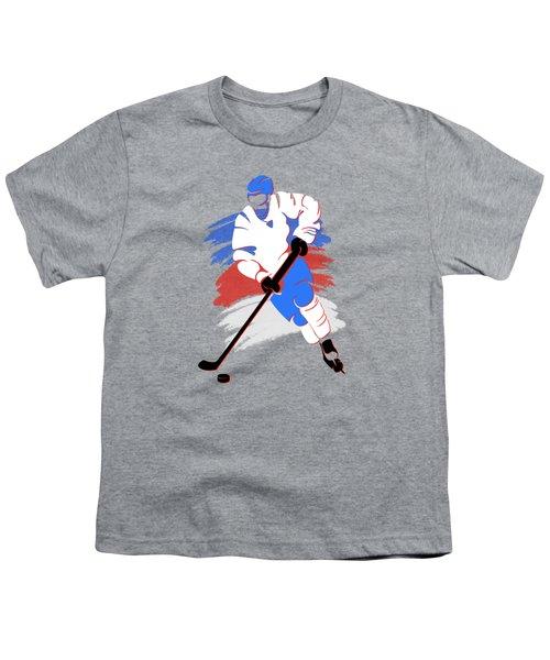 Quebec Nordiques Player Shirt Youth T-Shirt by Joe Hamilton