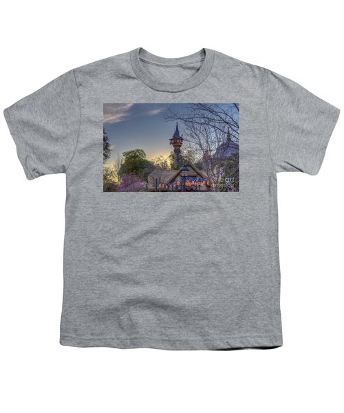 Rapunzel's Tower At Sunset Youth T-Shirt