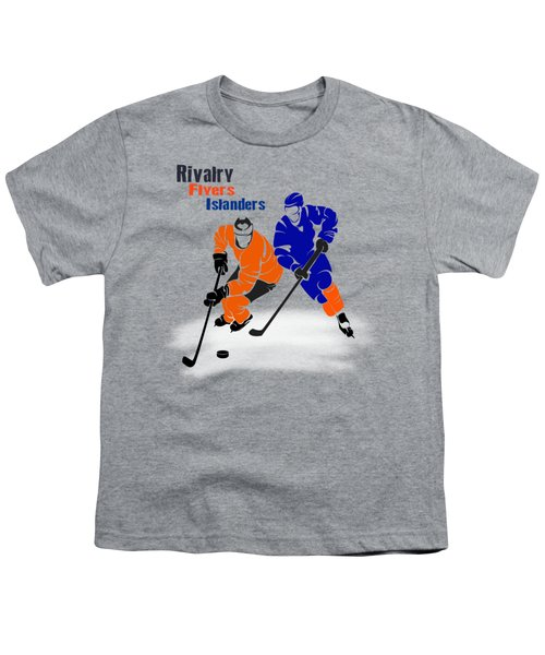 Rivalry Flyers Islanders Shirt Youth T-Shirt by Joe Hamilton