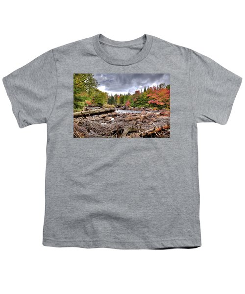Youth T-Shirt featuring the photograph River Debris At Indian Rapids by David Patterson