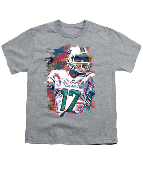 Ryan Tannehill Youth T-Shirt by Maria Arango