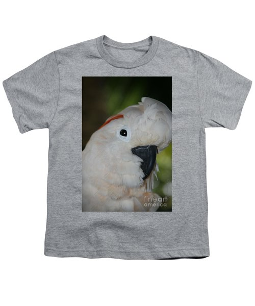 Salmon Crested Cockatoo Youth T-Shirt by Sharon Mau