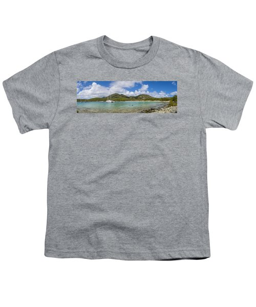 Youth T-Shirt featuring the photograph Salt Pond Bay Panoramic by Adam Romanowicz