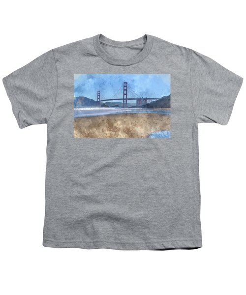 San Francisco Golden Gate Bridge In California Youth T-Shirt