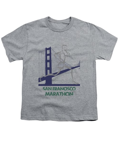 San Francisco Marathon2 Youth T-Shirt by Joe Hamilton