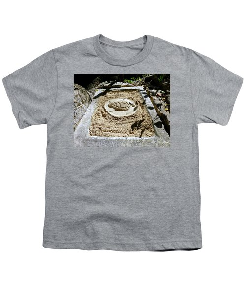 Youth T-Shirt featuring the photograph Sand Turtle Print by Francesca Mackenney