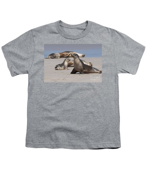 Youth T-Shirt featuring the photograph Sea Lions by Werner Padarin