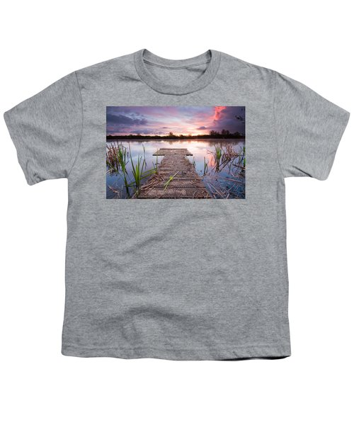 Shinewater Lake Sunrise Youth T-Shirt