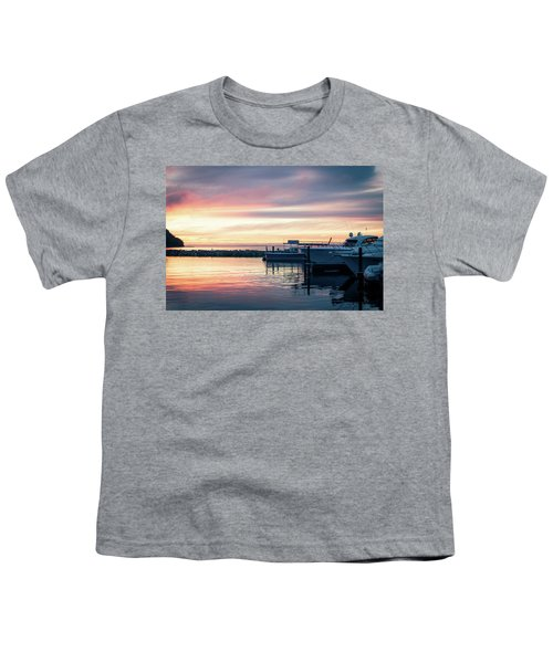 Sister Bay Marina At Sunset Youth T-Shirt