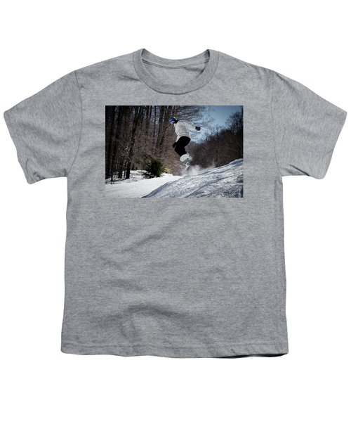Youth T-Shirt featuring the photograph Snowboarding Mccauley Mountain by David Patterson