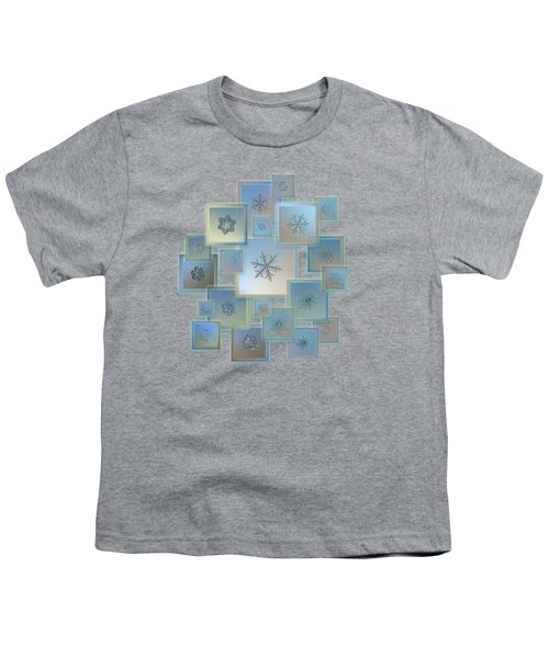 Snowflake Collage - Bright Crystals 2012-2014 Youth T-Shirt