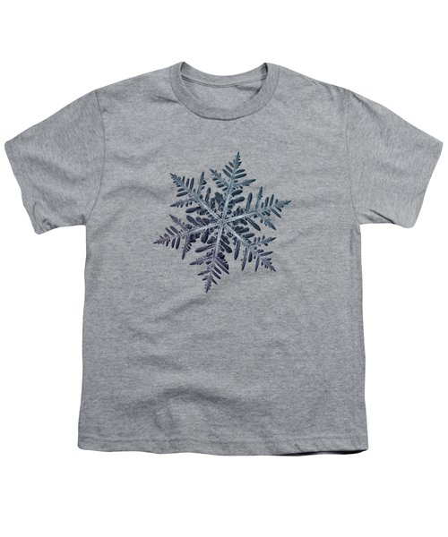 Youth T-Shirt featuring the photograph Snowflake Photo - Neon by Alexey Kljatov