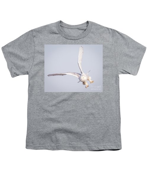 Snowy Owl Flying Dirty Youth T-Shirt by Ricky L Jones
