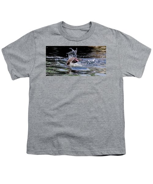 Splashing Humboldt Penguin Youth T-Shirt