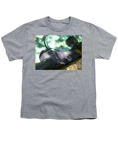 Youth T-Shirt featuring the photograph Stingray Wave by Francesca Mackenney