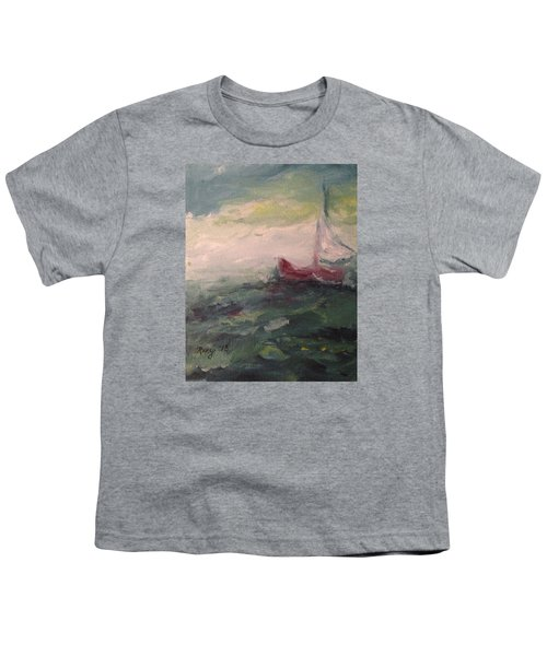 Stormy Sailboat Youth T-Shirt