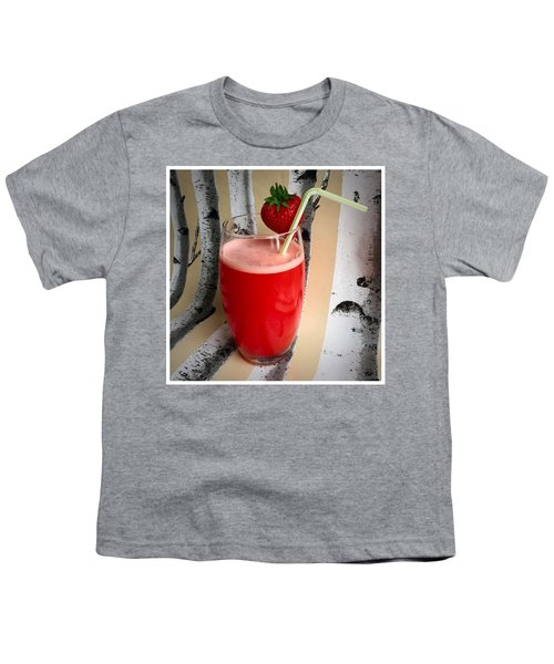 Strawberry Juice Youth T-Shirt by Kate V