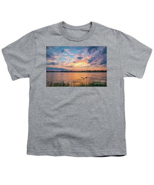 Sunset At Morse Lake Youth T-Shirt