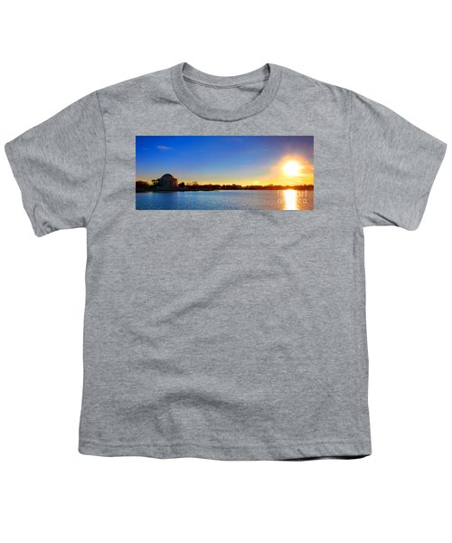 Sunset Over The Jefferson Memorial  Youth T-Shirt