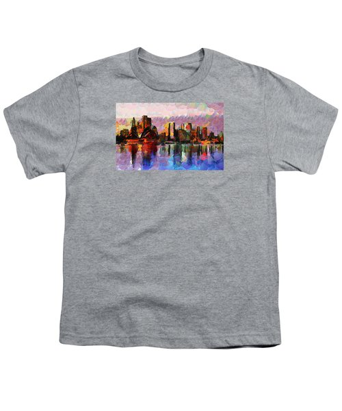 Sydney Here I Come Youth T-Shirt by Sir Josef - Social Critic - ART