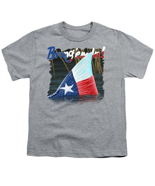 Texas Tails Youth T-Shirt by Kevin Putman